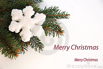Christmas greeting card with flake