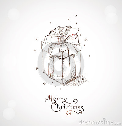 Christmas greeting card 4 stock photography image 34026032 for How to draw easy christmas cards
