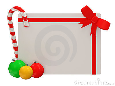 Christmas Greeting Card Isolated on white backgrou