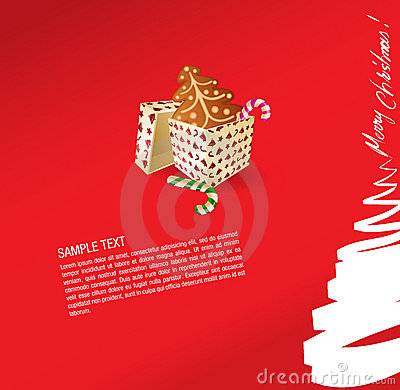 Christmas Greeting Card - Present, Sweet And Ginge Royalty Free Stock Images - Image: 6805529