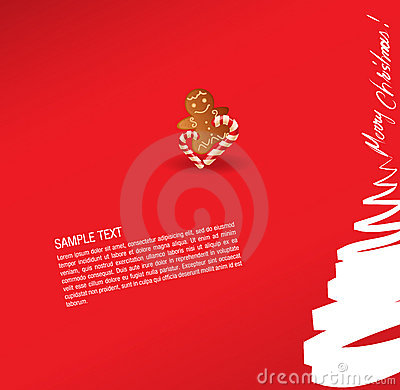 Christmas greeting card- sweet and gingerbread cak