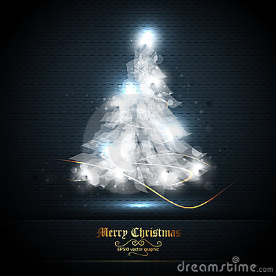 Christmas Greeting Card with Tree of Lights
