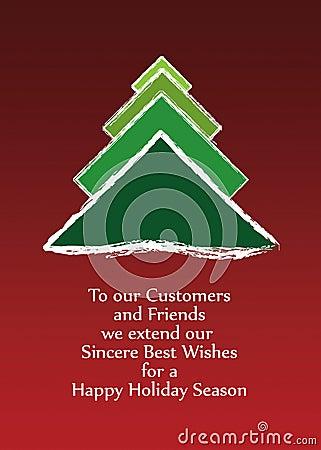 Christmas greeting card vector 2012