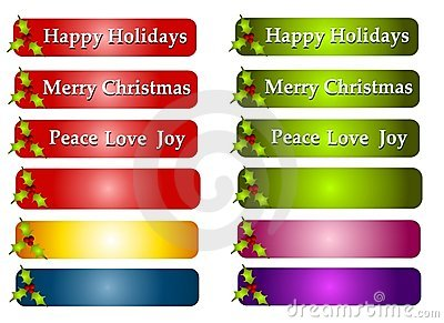 Christmas Greeting Labels or Logos
