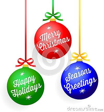 Christmas Greeting Ornaments/eps