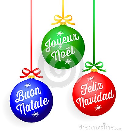 Christmas Language Ornaments/eps