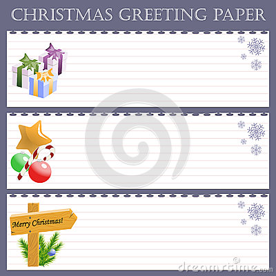 Christmas greeting paper with snowflakes