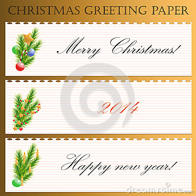 Christmas greeting paper with text