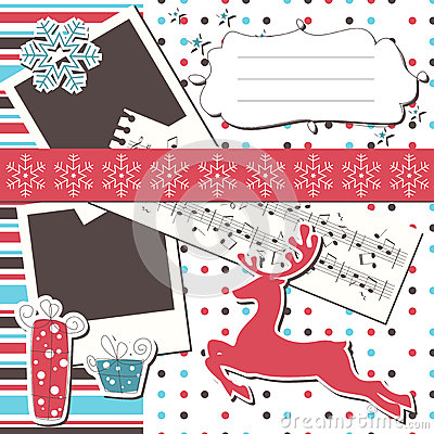 Christmas greeting scrapbook card