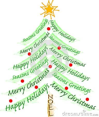 Free Christmas Greeting Tree/eps Stock Images - 5875694