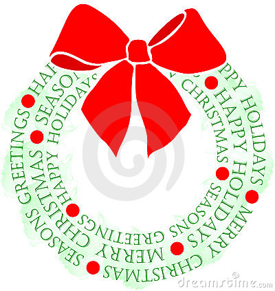 Christmas Greeting Wreath/eps