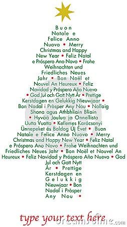 Christmas tree greetings languages christmas greetings card in christmas tree greetings languages christmas tree greetings languages m4hsunfo