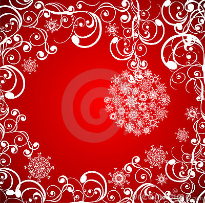 Christmas grunge background. Vector illustration