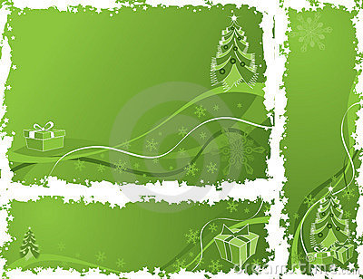 Christmas grunge frame, elements for design, vector