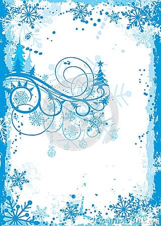 Christmas grunge frame, vector