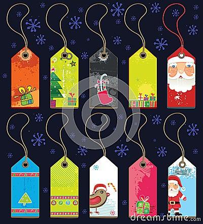 Free Christmas Grunge Tags. Royalty Free Stock Photo - 7109455