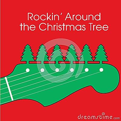 Christmas Guitar Background
