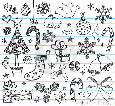 Free Christmas Hand-Drawn Sketchy Doodles Royalty Free Stock Images - 17257069