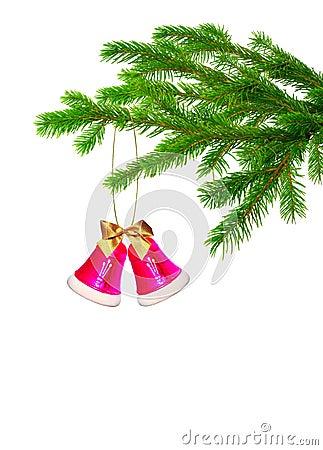 Christmas handbell on tree