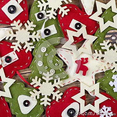 Christmas handmade felt decoration