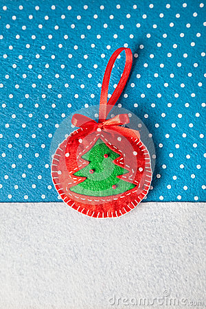 Christmas handmade felt toy