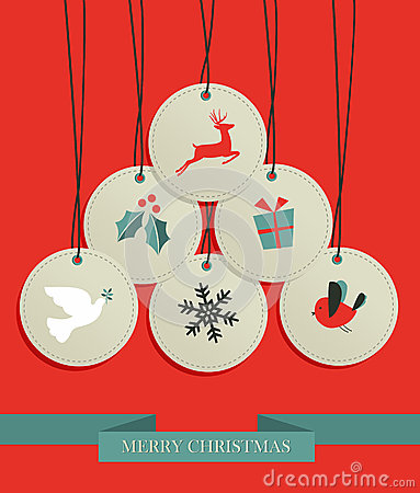Christmas hang tags sale set