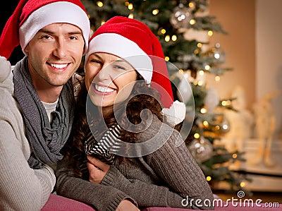 Christmas. Happy Couple