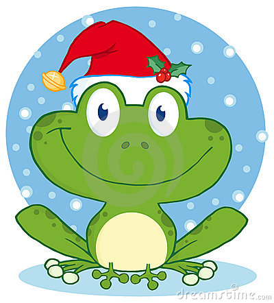 Free Christmas Happy Frog Royalty Free Stock Images - 22582379
