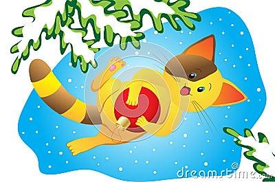Christmas happy kitty