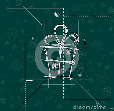 Christmas and happy new year gift circuit