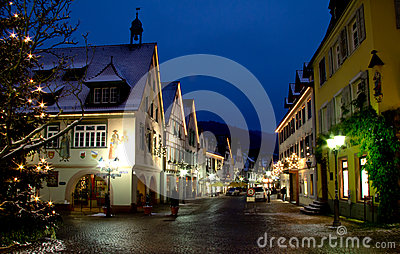 Christmas in Haslach, Germany Editorial Photo