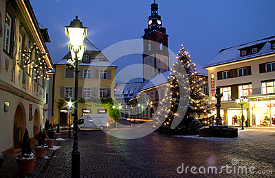 Christmas in Haslach, Germany Editorial Stock Photo