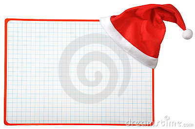 Christmas hat and blank horizontal