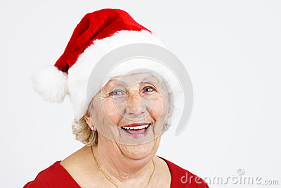 Christmas hat grandma smiling