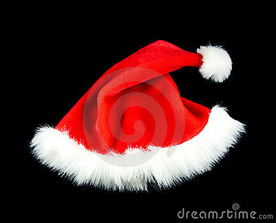 Christmas hat isolate black red