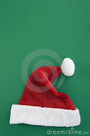 Christmas hat isolated on green background