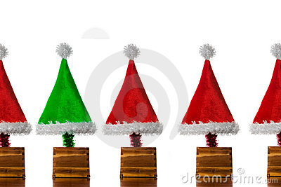Christmas Hat Trees