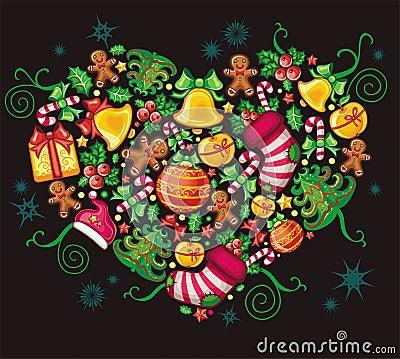 Free Christmas Heart Stock Photos - 11542523
