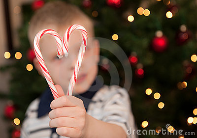Christmas Heart Candycanes