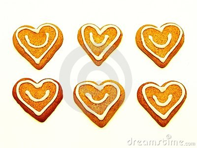 Christmas heart cookies