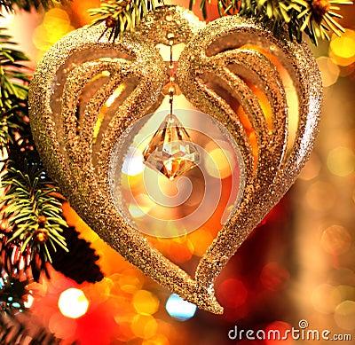 Free Christmas Heart Decoration Royalty Free Stock Photos - 83931498