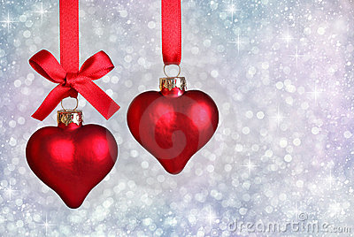 Christmas Hearts Royalty Free Stock Photos - Image: 17197768