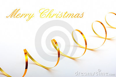 Christmas holiday background with gold ribbon