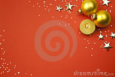 Christmas holiday background with stars, balls