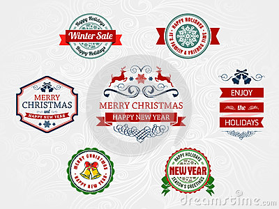 Christmas and holiday badges