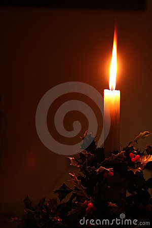 Christmas holiday candle