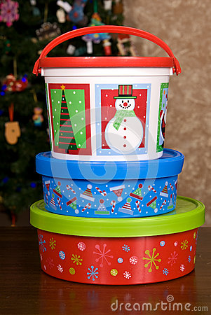 Christmas Holiday Cookie Containers