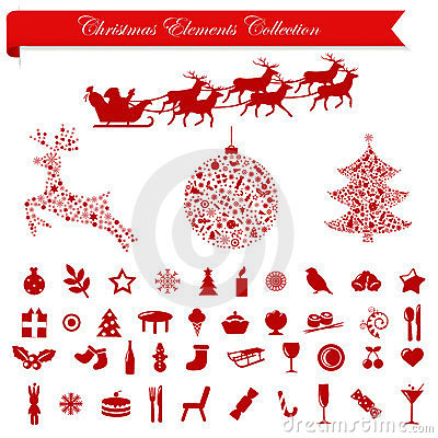 Christmas Holiday Elements. Vector