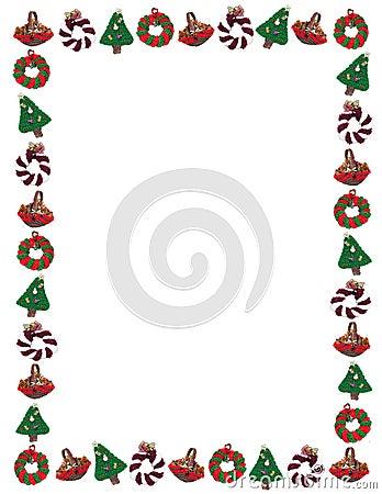 Free Christmas Holiday Ornament Border Royalty Free Stock Photography - 12392227