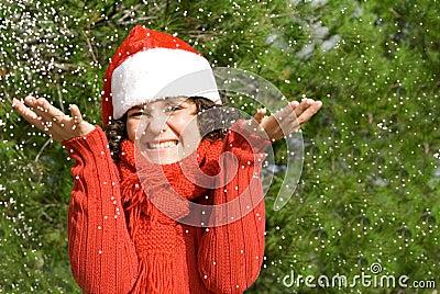 Christmas holiday snow